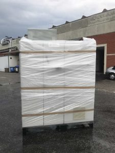Bespoke machinery packaging for Emcon container loading service